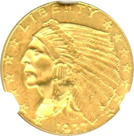 Image of 1927 $2 1/2 NGC MS64
