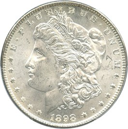Image of 1898 $1 PCGS/CAC MS65+
