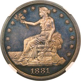 Image of 1881 Trade$ NGC/CAC Proof 63+ CAM
