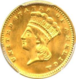 Image of 1874 G$1 PCGS MS64