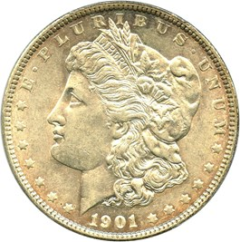 Image of 1901 $1 PCGS/CAC AU55