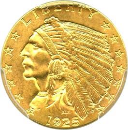 Image of 1925-D $2 1/2 PCGS MS63 - No Reserve!