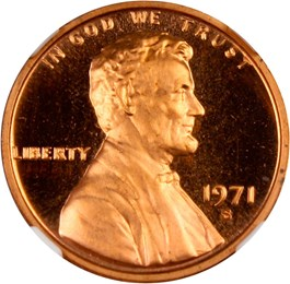 Image of 1971-S 1c NGC Proof 67 RD (NGC Star, Doubled Die Obverse)