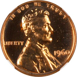 Image of 1960 1c NGC Proof 67 RD (Large/Small Date, FS-103)