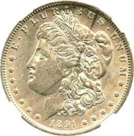 Image of 1891-O $1 NGC AU55