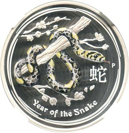 Image of Australia: 2013-P Year of the Snake Colorized 50c NGC PR69 UCAM (KM-1832)