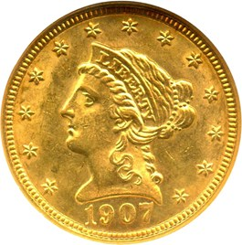 Image of 1907 $2 1/2 NGC MS63