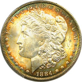 Image of 1884-O $1 PCGS MS64