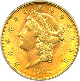 Image of 1904 $20 PCGS/CAC MS63 (OGH)