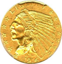 Image of 1914 $2 1/2 PCGS AU55