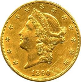 Image of 1890-CC $20 PCGS Genuine AU Details (Tooled)