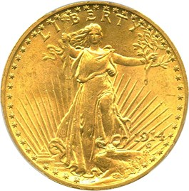 Image of 1914 $20 PCGS MS63