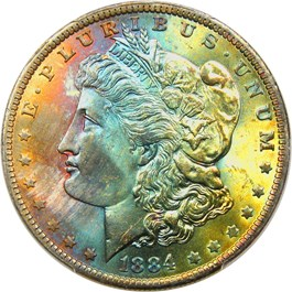 Image of 1884-O $1 PCGS MS65
