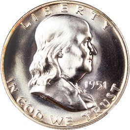 Image of 1951 50c NGC/CAC Proof 67
