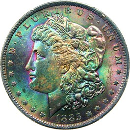 Image of 1885-O $1 PCGS MS64