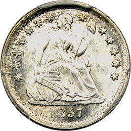 Image of 1857 H10c PCGS/CAC MS67