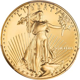 Image of 1989-P Gold Eagle $25 PCGS Proof 69 DCAM