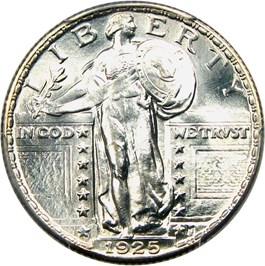 Image of 1925 25c PCGS MS66 FH