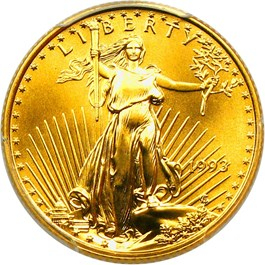 Image of 1993 Gold Eagle $10 PCGS MS70