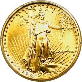 Image of 1987 Gold Eagle $10 PCGS MS70