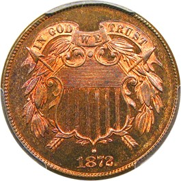 Image of 1872 2c PCGS MS66 RB