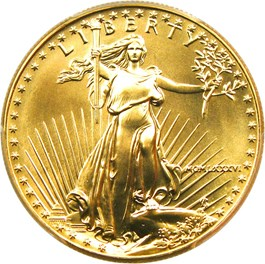 Image of 1986 Gold Eagle $50 PCGS MS69