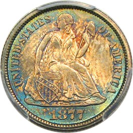 Image of 1877-CC 10c PCGS MS66+