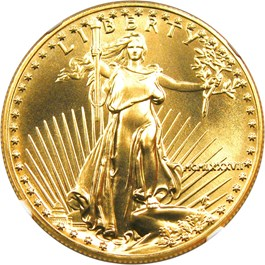 Image of 1987 Gold Eagle $50 NGC MS70