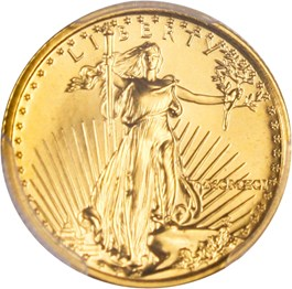 Image of 1991 Gold Eagle $5 PCGS MS70
