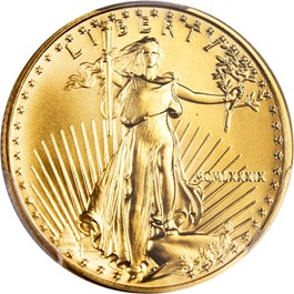Image of 1989 Gold Eagle $25 PCGS MS69