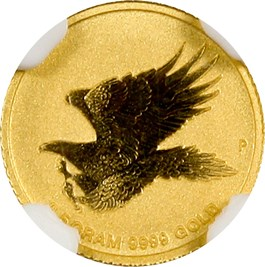 Image of Australia: 2015-P G$2 Wedge-Tailed Eagle NGC MS70 (Early Releases) Gold