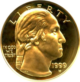 Image of 1999-W Washington $5 NGC Proof 70 UCAM