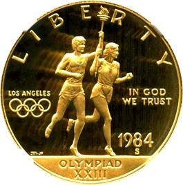 Image of 1984-S Olympic $10 NGC Proof 70 UCAM