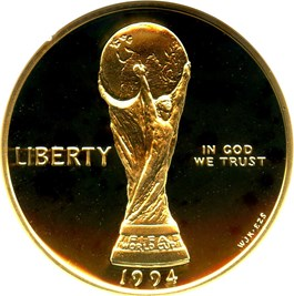 Image of 1994-W World Cup $5 NGC Proof 70 UCAM