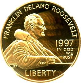 Image of 1997-W Franklin D. Roosevelt $5 NGC Proof 70 UCAM