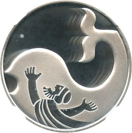 Image of Israel: 2010 Silver 2 Sheqalim NGC PR70 UCAM (Jonah in the Whale, KM-476)