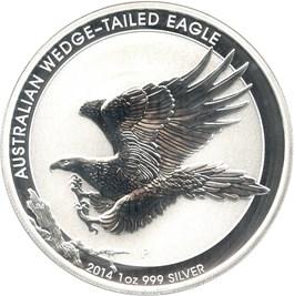 Image of Australia: 2014-P Silver Wedge Tailed Eagle $1 PCGS MS70 (Mercanti Signature)