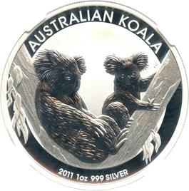 Image of Australia: 2011-P Silver Koala $1 NGC MS69