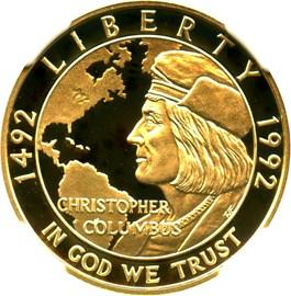 Image of 1992-W Columbus $5 NGC Proof 70 UCAM