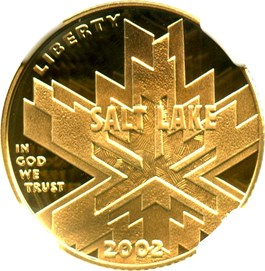 Image of 2002-W Salt Lake City Olympics $5 NGC Proof 70 UCAM
