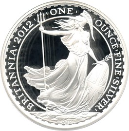 Image of Great Britain 2012 Silver Britannia 2 Pounds PCGS Proof 70 DCAM First Strike