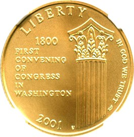 Image of 2001-W Capitol Visitors Center $5 NGC MS70