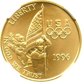 Image of 1996-W Flag $5 NGC MS70