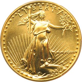Image of 1987 Gold Eagle $50 PCGS MS70
