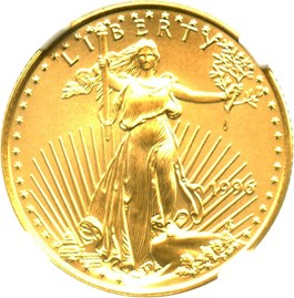 Image of 1996 Gold Eagle $10 NGC MS69