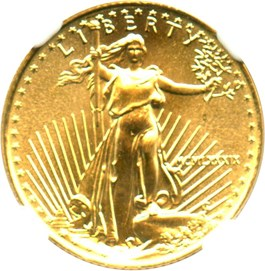 Image of 1989 Gold Eagle $5 NGC MS69