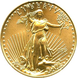 Image of 1995 Gold Eagle $25 PCGS MS69
