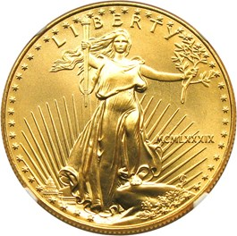 Image of 1989 Gold Eagle $50 NGC MS69