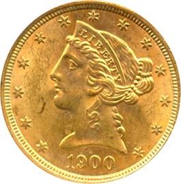 Image of 1900 $5 NGC MS64