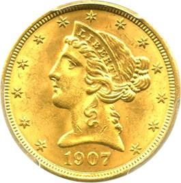 Image of 1907 $5 PCGS MS64